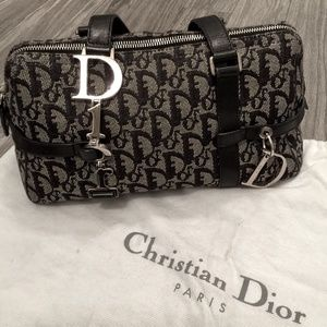 Christian Dior Blue Monogram Shoulder bag
